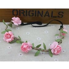 Floral Flower Wedding Festival Party Crown Elastic Boho Weave Hairband Headband