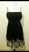 Ladies New Uttam London Black Designer Party Dress Size L 12-14