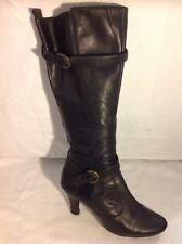 Emotion Black Knee High Leather Boots Size 6