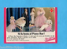 TOP989-PUBBLICITA'/ADVERTISING-1989- MATTEL - IL PIANO BAR SUPERSTAR DI BARBIE