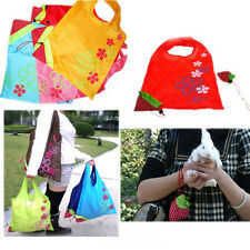 Lovely Reusable Eco Strawberry Storage Bag Handbag Foldable Shopping Bag Tote