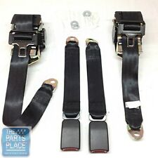 93-02 GM F Body Front Seat Belts Set Single Retractor Style In 7 Panel Webbing