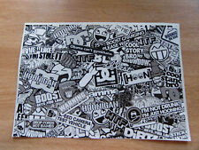 Sticker Bomb sheet 3a - Black + White / Greyscale - A4 size