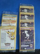 Pokemon First Movie Promo Card Set,andAll 3 legendary birds Sealed +Bonus