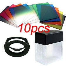 82mm Ring Adapter + 10pcs square color filter +Filter box Kit for Cokin P series
