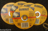 5 X DEWALT DT42340 125MM X 1MM INOX STAINLESS STEEL METAL CUTTING GRINDER DISCS