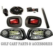 EZGO RXV Golf Cart LED Headlight & Tail light Kit Deluxe Street Package