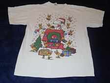 Charlie Browns Snoopy & Woodstock North Pole Christmas T-Shirt Adult Large
