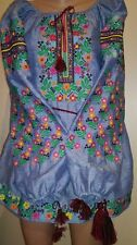 Ukrainian embroidery, embroidered blouse, flax, XS-4XL, Ukraine
