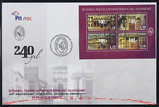 TURKEY 2013, 240TH ANNIVERSARY OF ISTANBUL TECHNICAL UNIVERSITY ( BEE ) FDC
