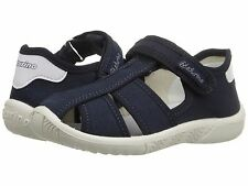 NIB Naturino Boys Closed Toe Navy Blue Canvas Sandals Little Boys  Size 10