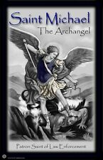 St. Michael Patron Saint of Law Enforcement 24x36 Inch Poster