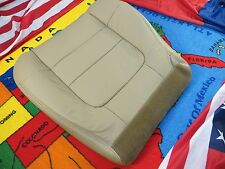 2001 -02 FORD F.150 LARIAT  5.4L Driver side Bottom Leather Seat cover  TAN