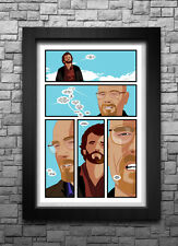 BREAKING BAD inspired comic book page art print/poster FREE S&H