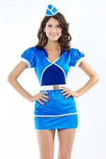 Sexy Women's Air Stewardess Fancy Dress Costume Lingerie Fantasy Role Play