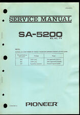 Original Factory Pioneer SA-5200 KU KC FV Stereo Amplifier Service Manual