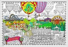 Balloon Festival - Giant Coloring Poster (32½ x 22 Inches)