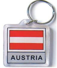AUSTRIA FLAG KEY CHAIN WITH RING  - NEW