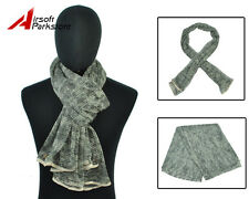 Tactical Military Army Multifunctional Camouflage Scrim Scarf Face Mask ACU Camo
