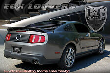 2PC BLACK ABS EGX REAR BACK WINDOW LOUVERS E&G FITS 2005-2014 FORD MUSTANG