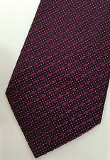 "Paul Smith TIE DAMSON with Pink Dots ""MAINLINE"" 100% Silk Made in Italy"