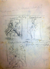 Julian Ritter - Notes and Three Sketches for Future Painting Pencil on Paper 86