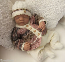 Baby Knitting Pattern DK  TO KNIT Baby or Reborn Dolls Cardigan Hat Leggings