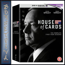 HOUSE OF CARDS - COMPLETE SEASONS 1 2 3 & 4  *BRAND NEW DVD BOXSET**