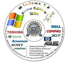 Windows XP 32 Bit Home Edition (SP3) Reinstall | Install Recover Repair DVD W/HD