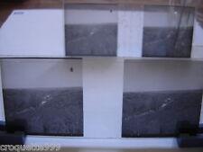 2 photos plaque verre negative positive St LAURENT des AUTELS vallee vue grotte