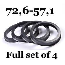 Hub Centric Rings / Alloy Wheels Spigot Rings Centre Rings 72,6-57,1 72.6 57.1