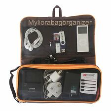MYLIORA Travel Portable Gadget's Charger Organiser Cable Bag Organizer, Brown