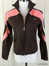 Nike S 4 6 Brown Peach White Active Golf Tennis Fitness Zip Up Jacket