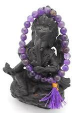 Amethyst Quartz Crystal Mala Bracelet 7mm Buddhist Prayer Beads