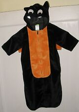 Old Navy BAT HALLOWEEN Costume One Piece w/ Wings & Hood 0-3 mo Used Cute