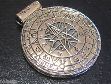 AMULET MAGICK CIRCLE SHIELD  PENDANT 4cm - BRONZE by Peter Stone
