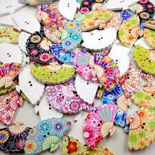 100Pcs Wooden Sewing Buttons 2 Hole for DIY Craft Decorative Card Making