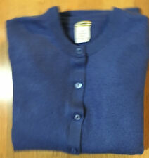 "J. Crew VGUC M Featherweight 100% Cashmere Cardigan Sweater ""Mid Blue"""