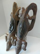 African Tribal Art,Mblo mask/Baule people,Ivory Coast-23in.