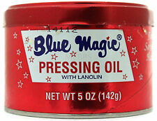 BLUE MAGIC HAIR PRESSING OIL WITH LANOLIN SOFT SILKY 5 OZ.