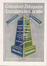 DRESDEN, Werbung 1916, Chlorodont-Zahnpasta Paste Laboratorium Leo