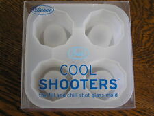 FRED Down the Hatch COOL SHOOTERS Fill & Chill 4~Cavity Shot Glass Mold Silicone