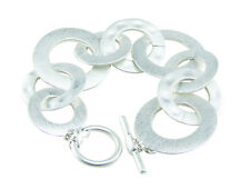 Silver Linked Circles Washers Loops Bracelet Free Ship Fashion Jewelery