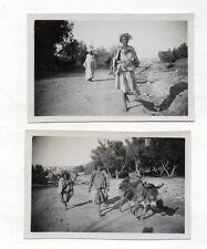 Lot 2 PHOTOS ANCIENNES MAROC Béni Mellal / Aït Mellal 1934 Aveugle Femmes