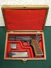 PISTOL GUN PRESENTATION CASE WOOD BOX FITS BROWNING HI POWER HIGH G-35 HP-35 BHP