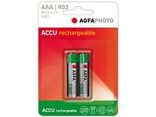 AAA 2x Micro Power Akku AGFA PHOTO  MICRO BATTERY HR03 NiMh-Accu 900mAh
