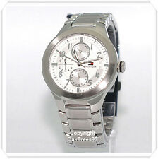 TOMMY HILFIGER MENS MULTI FUNCTION STAINLESS STEEL WATCH 1710237