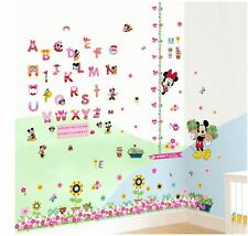 Wall stickers Mickey Minnie mouse height chart  Art Kids Nursery Decal removable