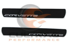 2005-2013 C6 Corvette Genuine GM Door Sill Plates Corvette Script Logo 17802221