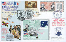 "Maxi FDC FRANCE-USA ""Stopover No. 7 Annapolis - HERMIONE / US Independence"" 2015"